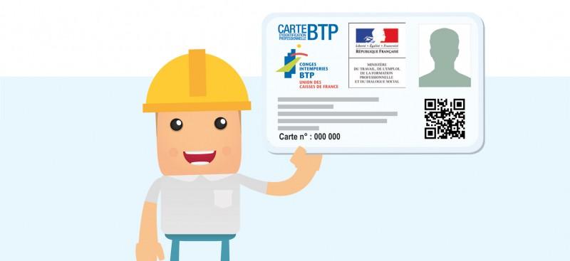 La carte professionnelle du BTP est arrivée
